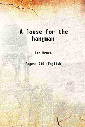 9789333334655: A louse for the hangman [Hardcover]