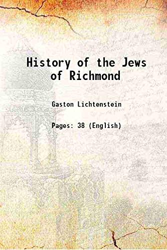9789333340649: History of the Jews of Richmond 1913 [Hardcover]