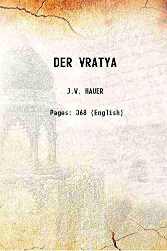 9789333343329: DER VRATYA 1927 [Hardcover]