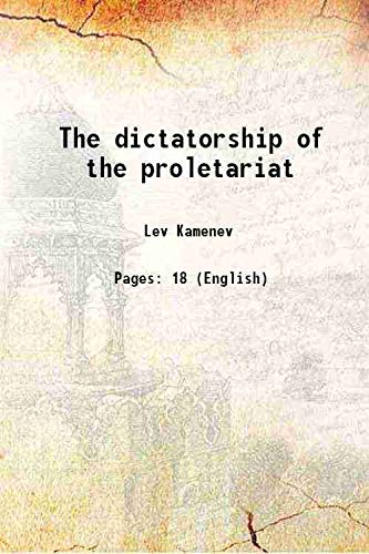 9789333345774: The dictatorship of the proletariat [Hardcover]