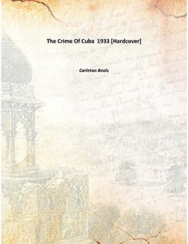 9789333351577: The Crime Of Cuba 1933 [Hardcover]