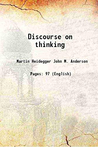 9789333352154: Discourse on thinking [Hardcover]
