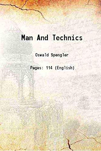 9789333353687: Man And Technics 1932 [Hardcover]