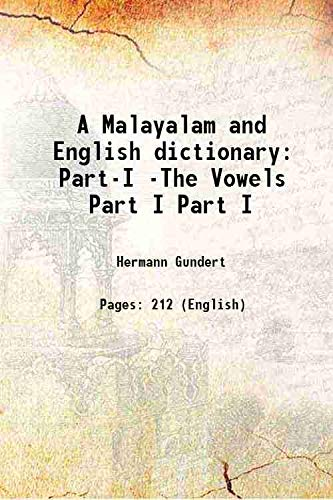A Malayalam and English dictionary [Hardcover]: Gundert, Hermann,