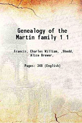 9789333361675: Genealogy of the Martin family Volume 1 [Hardcover]