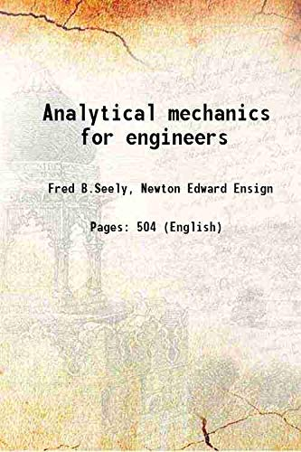 9789333368322: Analytical mechanics for engineers 1921 [Hardcover]