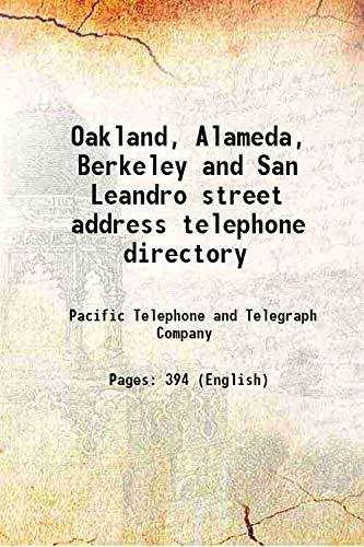 9789333369930: Oakland, Alameda, Berkeley and San Leandro street address telephone directory [Hardcover]