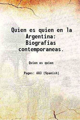 Quien es quien en la Argentina: Biografias: Quien es quien