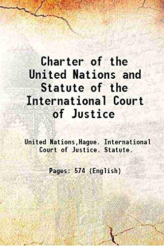 9789333379427: Charter of the United Nations and Statute of the International Court of Justice 1968 [Hardcover]