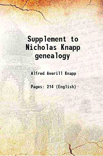 9789333382113: Nicholas Knapp genealogy 1953 [Hardcover]