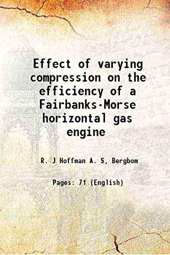 Effect of varying compression on the efficiency: R. J Hoffman