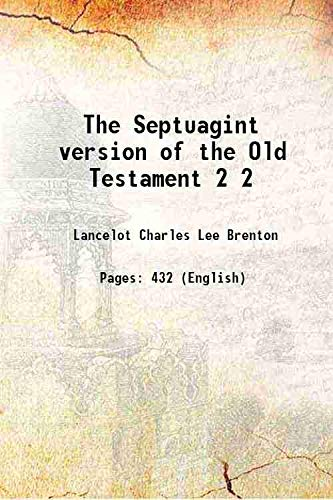 9789333390484: The Septuagint version of the Old Testament 1844 [Hardcover]