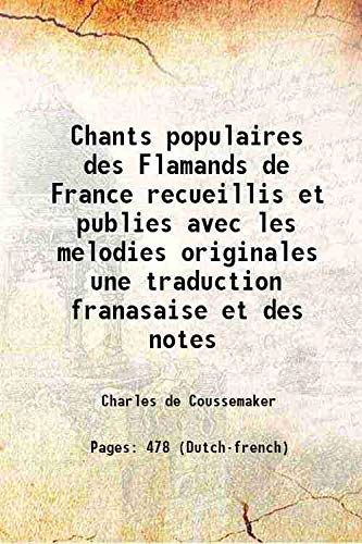 Chants populaires des Flamands de France recueillis