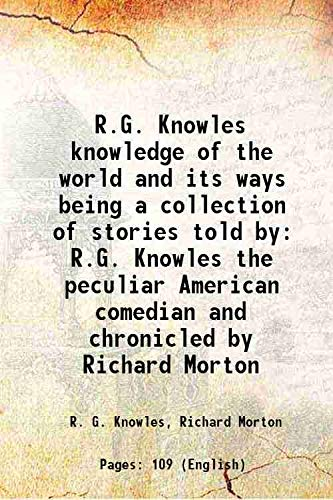 R.G. Knowles knowledge of the world and: R. G. Knowles,