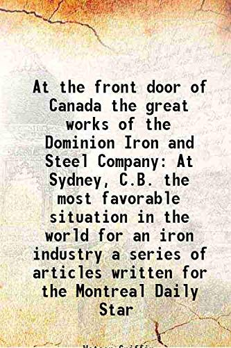 At the front door of Canada the: Watson Griffin