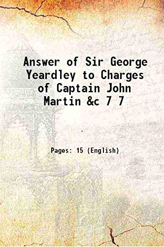 Answer of Sir George Yeardley to Charges: Anonymous