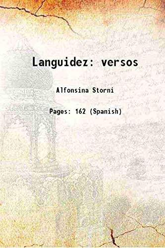 9789333469630: Languidez versos 1920