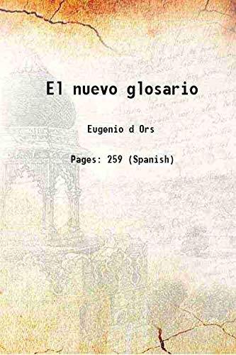 9789333470315: El nuevo glosario 1921