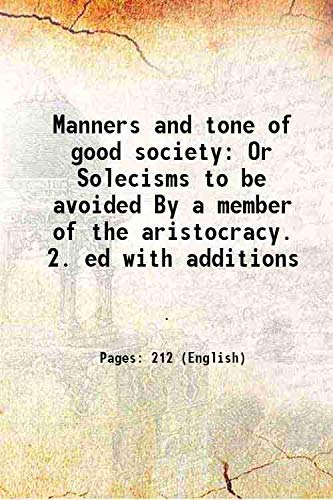 Manners and tone of good society Or: Anonymous