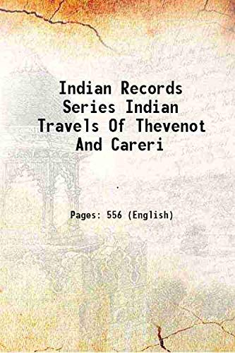 Indian Records Series Indian Travels Of Thevenot: Anonymous