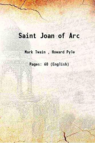Saint Joan of Arc 1919 [Hardcover]: Mark Twain ,