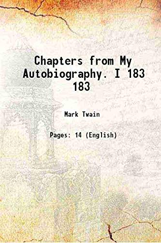 9789333605410: Chapters from My Autobiography. I Vol: 183 1906 [Hardcover]