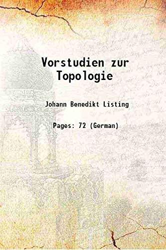 9789333606066: Vorstudien zur Topologie 1848 [Hardcover]
