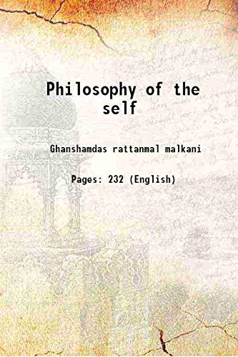 9789333619424: Philosophy of the self [Hardcover]