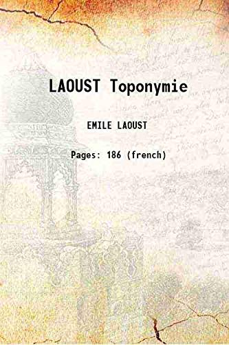 LAOUST Toponymie [Hardcover]: EMILE LAOUST