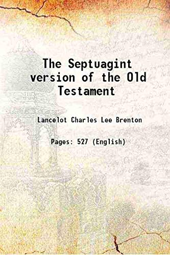 9789333638944: The Septuagint version of the Old Testament 1844 [Hardcover]