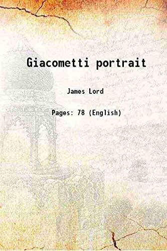 9789333646062: Giacometti portrait [Hardcover]