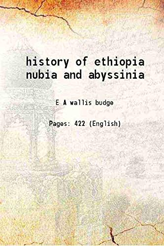 history of ethiopia nubia and abyssinia [Hardcover]