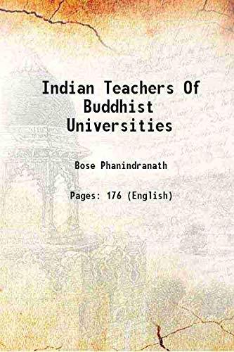 9789333660280: Indian Teachers Of Buddhist Universities 1923 [Hardcover]