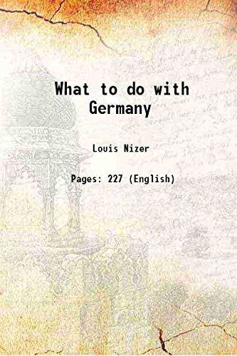 9789333662987: What to do with Germany [Hardcover]