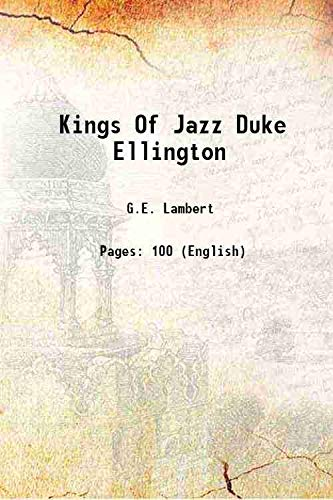 Kings Of Jazz Duke Ellington [Hardcover]: G.E. Lambert