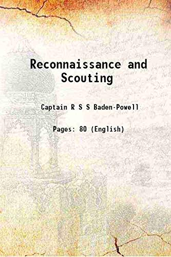 9789333670562: Reconnaissance and Scouting 1891 [Hardcover]