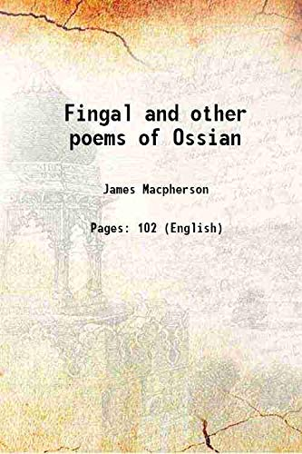 9789333682602: Fingal and other poems of Ossian 1800 [Hardcover]