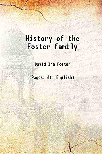 9789333683531: History Of The Foster Family [Hardcover]