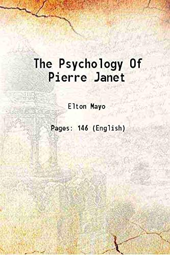 9789333683685: The Psychology Of Pierre Janet 1951 [Hardcover]