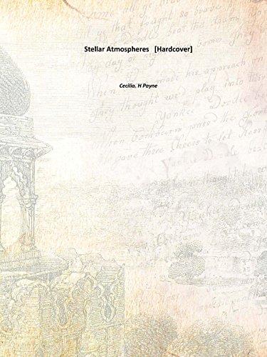 9789333686839: Stellar Atmospheres 1925 [Hardcover]