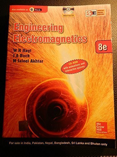 9789339203276: Engineering Electromagnetics, 8th ed. (With CD ROM)
