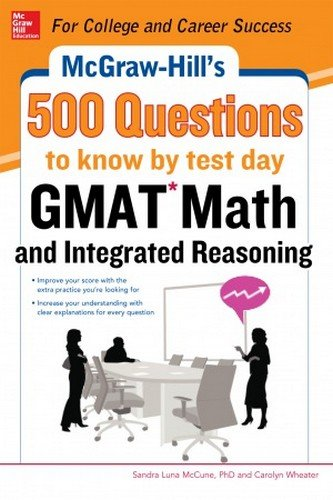 9789339213718: GMAT-Math and Integrated Reasoning : 500 Questions to Know by Test Day (English) 1st Edition