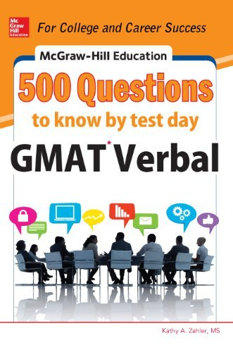 9789339214173: Mcgraw-Hill Education 500 GMAT Verbal Questions to Know by Test Day