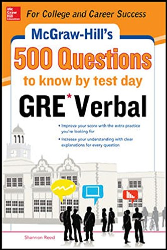 9789339214180: McGraw-Hill Education 500 GRE Verbal Questions to Know by Test Day PB
