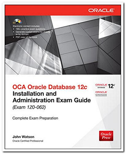 9789339218096: OCA Oracle Database 12c: Installation and Administration Exam Guide (Exam 1Z0 - 062)