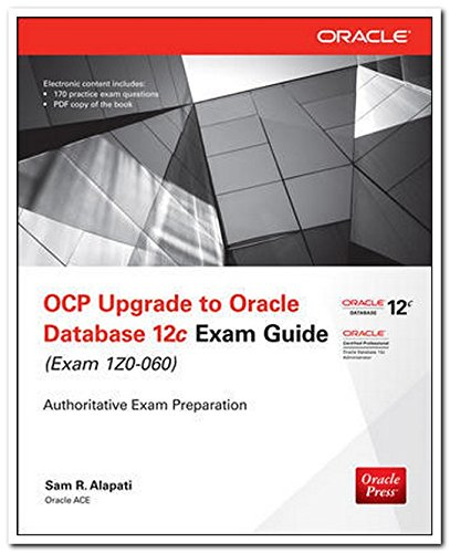 9789339218119: Ocp Upgrade To Oracledb 12C Exam Guide Exam-Izo 060