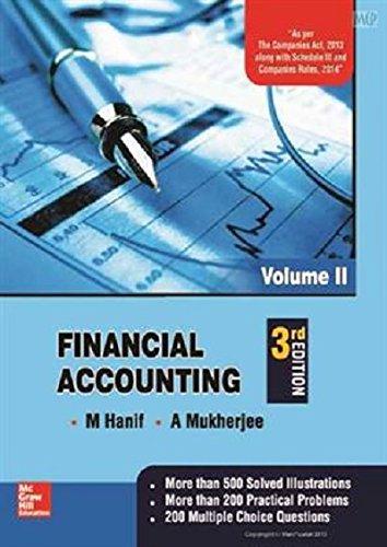 Financial Accounting - Vol. 2, 3Rd Edition: M Hanif ,