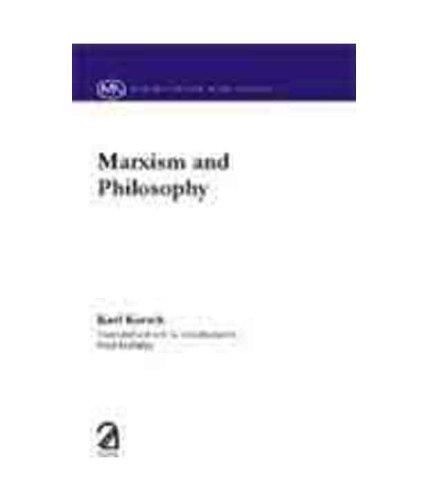 Marxism and Philosophy: Karl Korsch