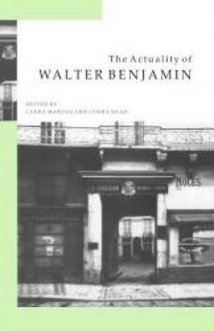 The Actuality of Walter Benjamin: Laura Marcus,Lynda Nead (Eds)