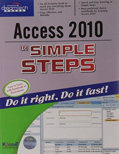 Access 2010 In Simple Steps: Kogent Learning Solutions
